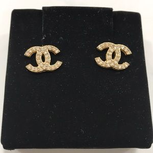 Chanel Metal, Strass & Resin Earrings - NOTRADE